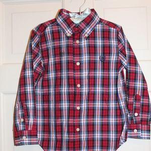 NWT Christmas Plaid shirt sz 4